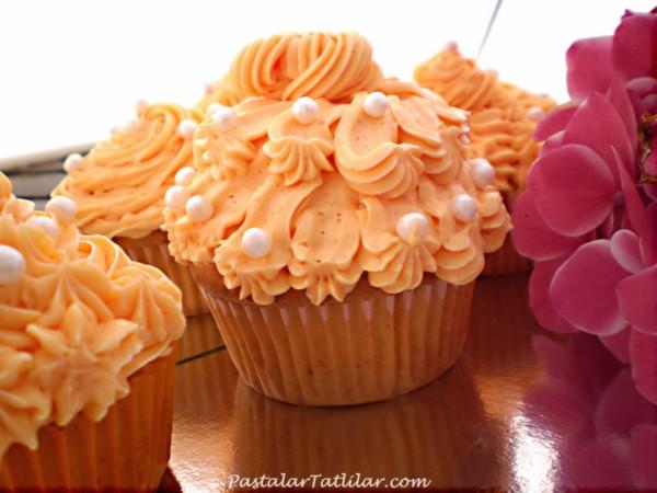 Portakallı Cupcake