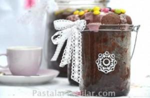 Kavanozda Kakaolu Kek