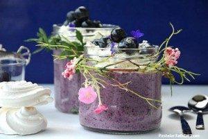 Bezeli Blueberry / Yaban Mersinli Puding